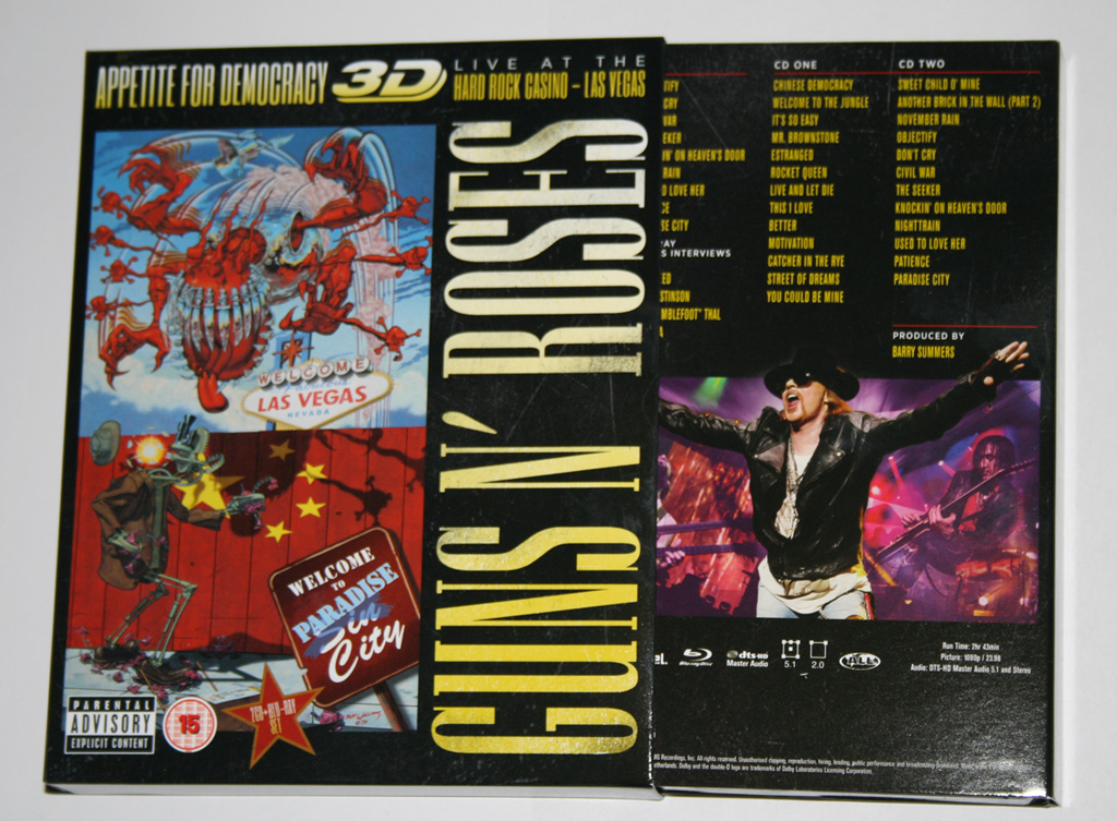 Appetite For Democracy Boxset cover Guns N' Roses