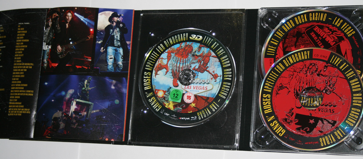 Appetite For Democracy Boxset Inside cover Guns N' Roses