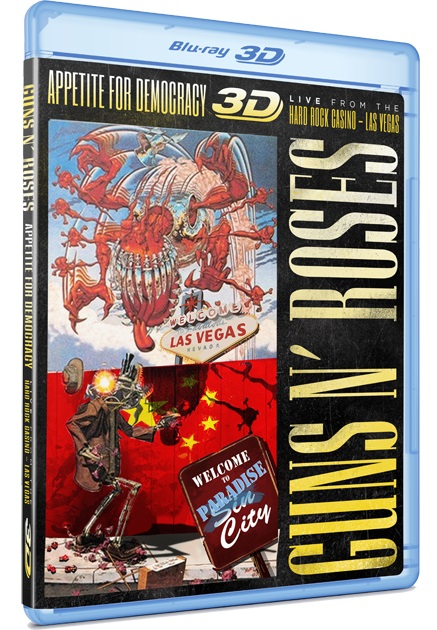 Blu-ray Guns N' Roses Appetite For Democracy 3D Live Las Vegas