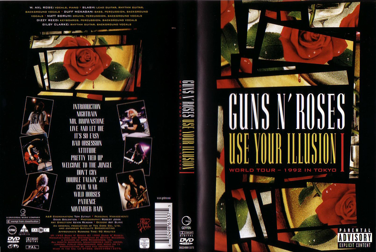 Pochette DVD Use Your Illusion I Guns N' Roses
