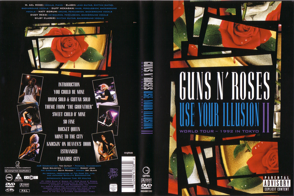 Pochette DVD Use Your Illusion II Guns N' Roses