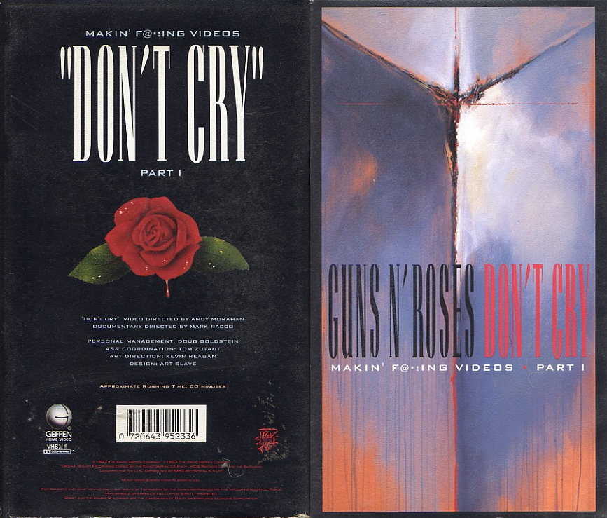 Pochette VHS Makin of Don't Cry Guns N' Roses