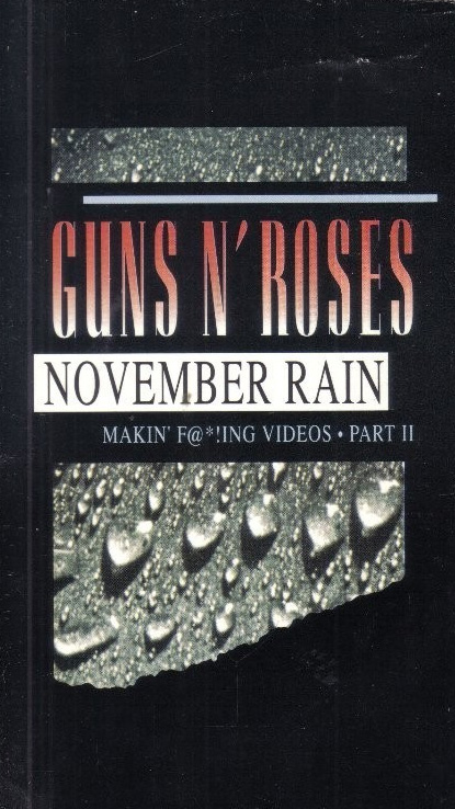 Pochette VHS Makin of November Rain Guns N' Roses