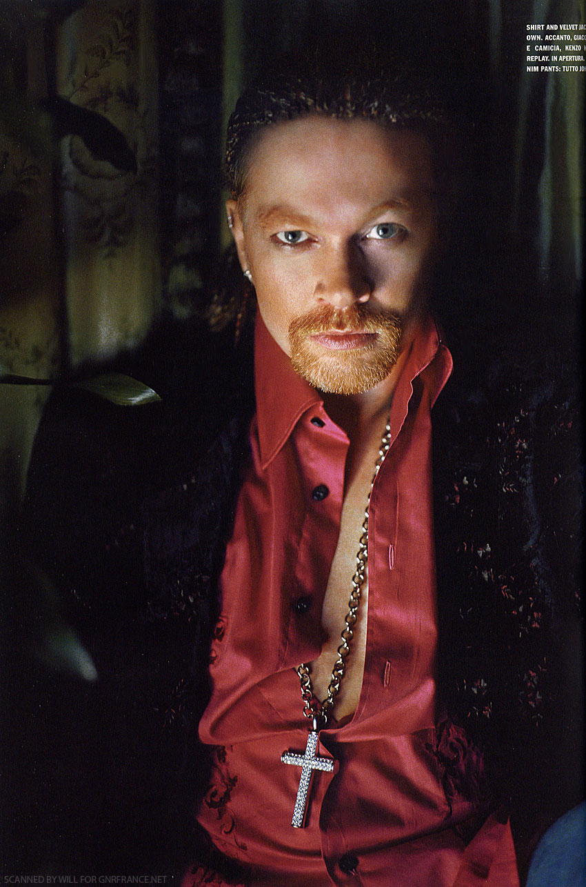 Image result for axl rose italian vogue