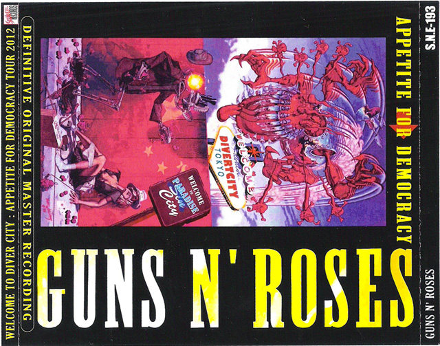 Welcome To Diver City Guns N' Roses Tokyo 2012 front cover