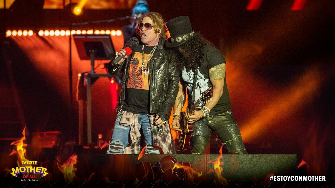 axl rose slash live monterrey mexique 2018