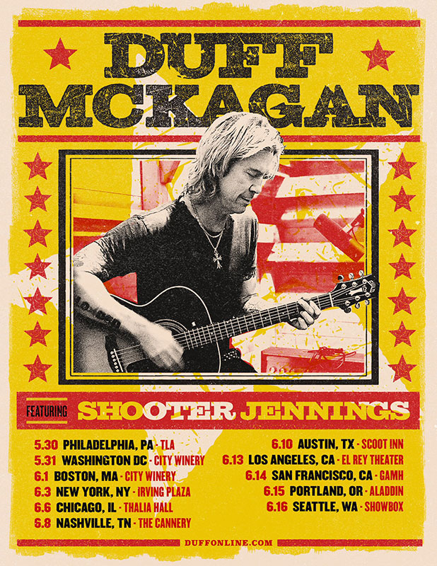 DUff mckagan solo tour summer 2019