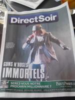 Guns N' Roses en couverture du quotidien gratuit Direct Soir